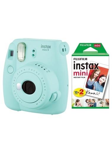 Fujifilm Instax Mini 9 Açık Mavi Fotoğraf Makinesi & 20'li Film Mavi